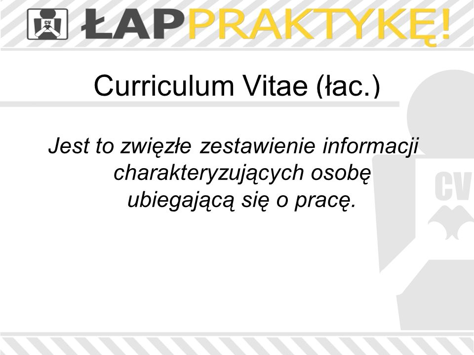 Curriculum Vitae (łac.)