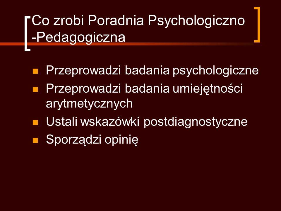 Co zrobi Poradnia Psychologiczno -Pedagogiczna