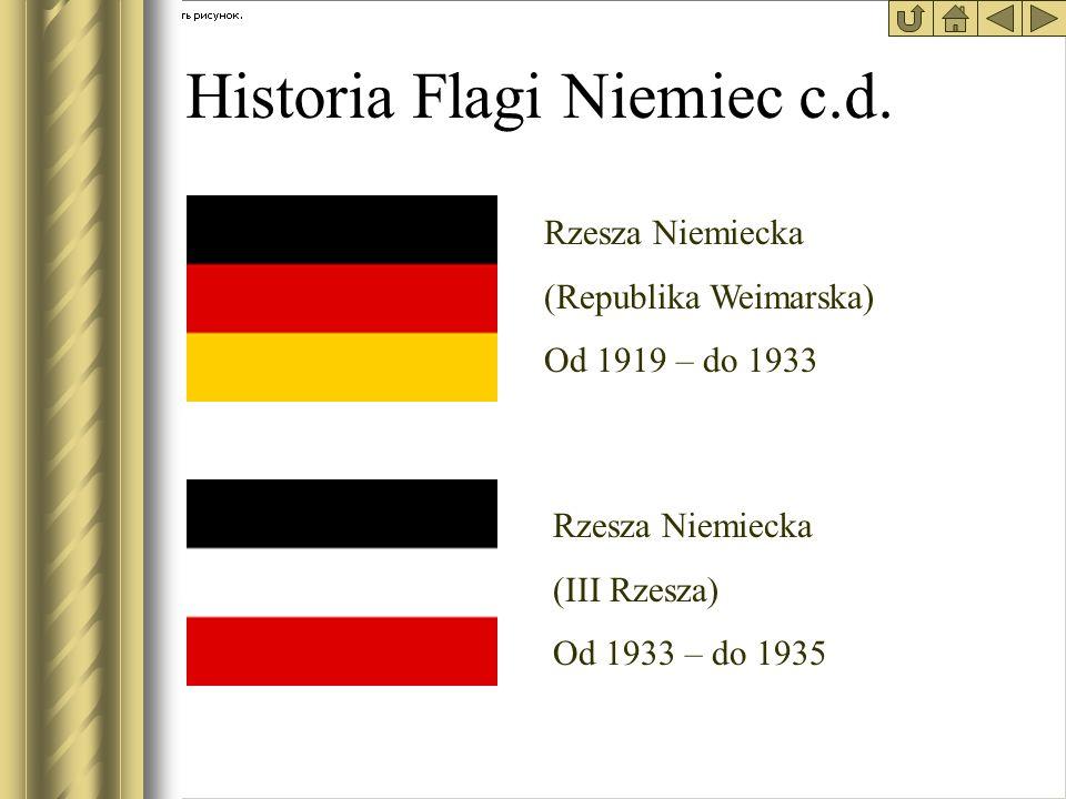 Historia Flagi Niemiec c.d.