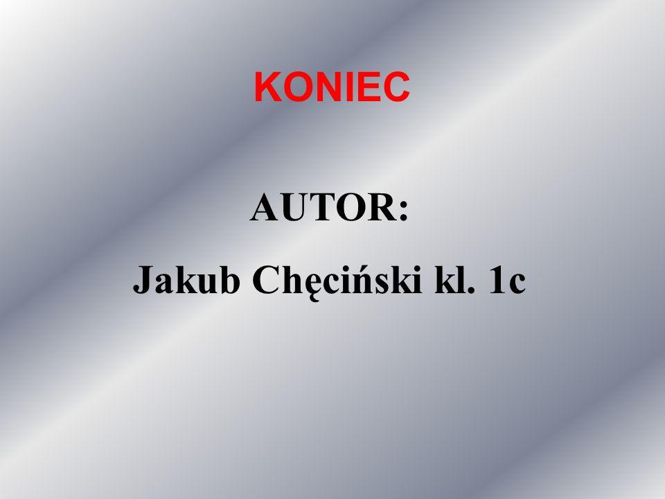 KONIEC AUTOR: Jakub Chęciński kl. 1c
