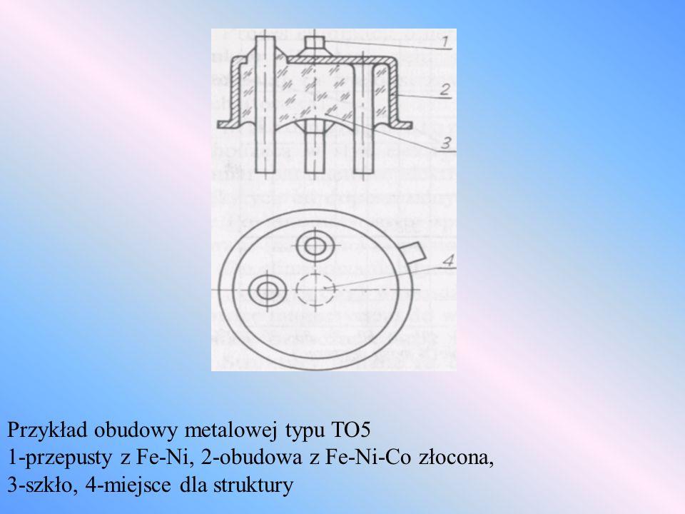 Przykład obudowy metalowej typu TO5
