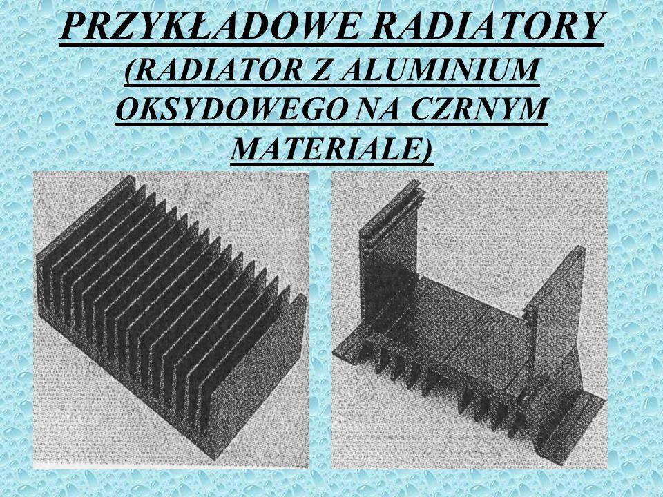 PRZYKŁADOWE RADIATORY (RADIATOR Z ALUMINIUM OKSYDOWEGO NA CZRNYM MATERIALE)