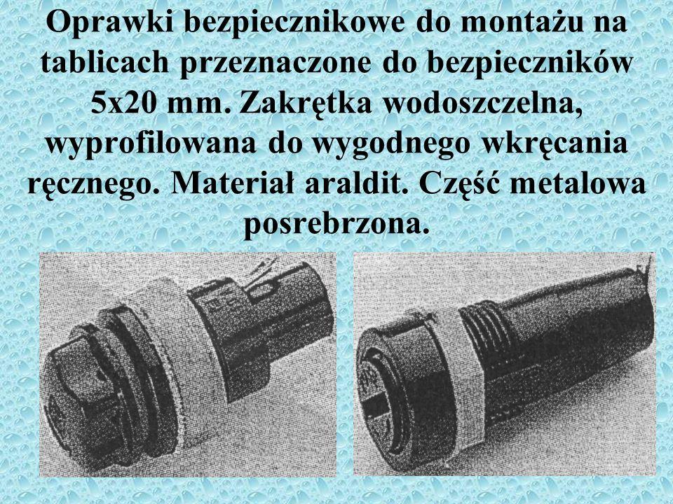 Oprawki bezpiecznikowe do montażu na tablicach przeznaczone do bezpieczników 5x20 mm.