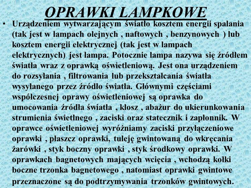 OPRAWKI LAMPKOWE