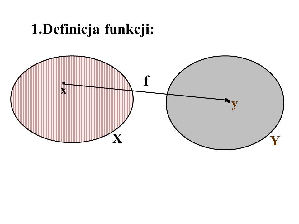 1.Definicja funkcji: f x y X Y