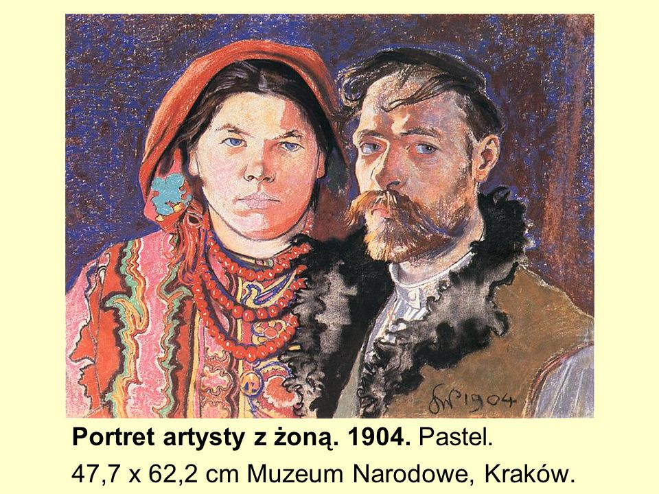 Portret artysty z żoną. 1904. Pastel.