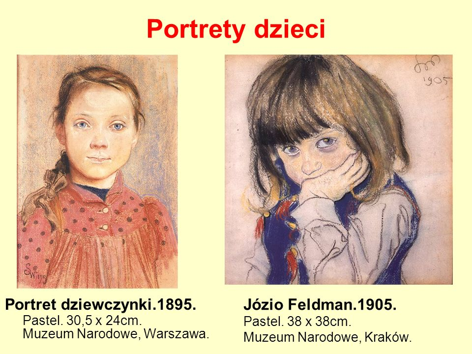 Portrety dzieci Józio Feldman.1905.
