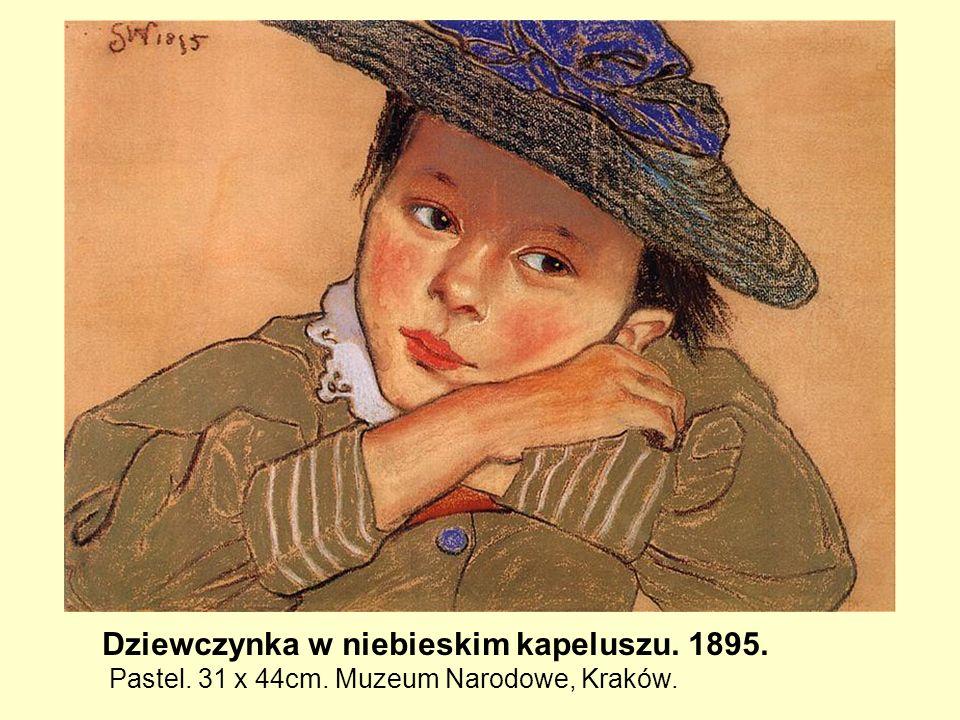 Dziewczynka w niebieskim kapeluszu. 1895.