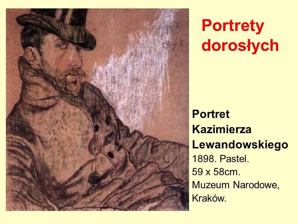 Portrety dorosłych Portret Kazimierza Lewandowskiego 1898. Pastel.