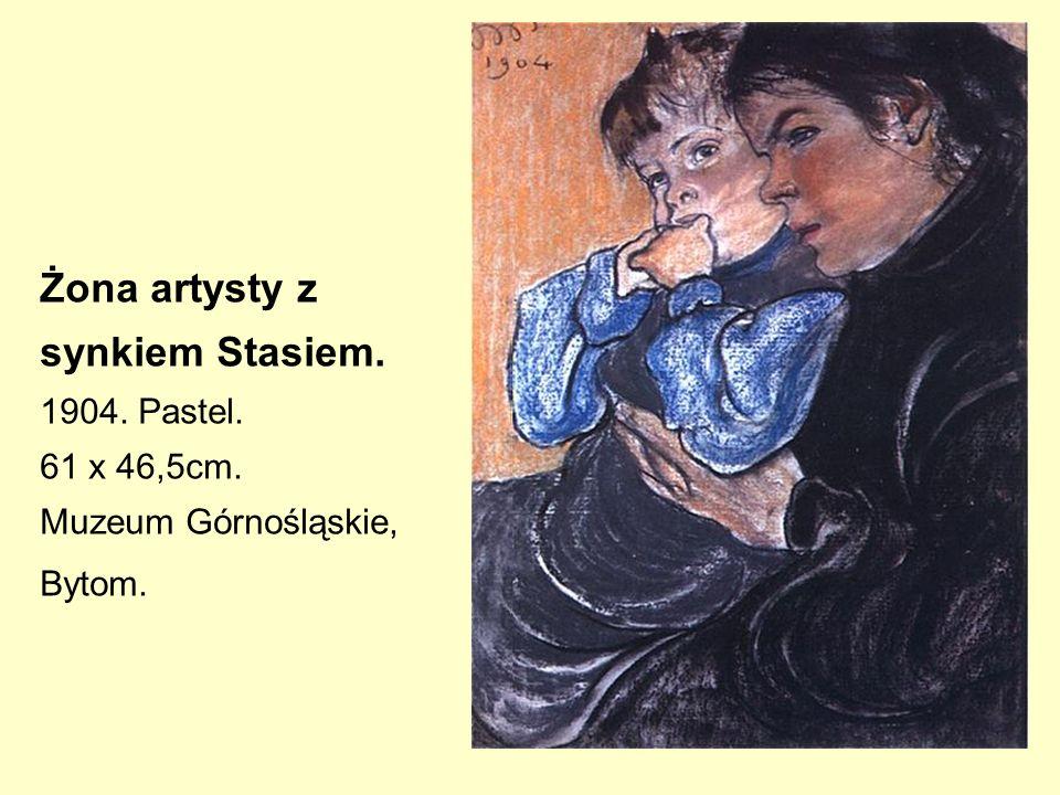 Żona artysty z synkiem Stasiem. 1904. Pastel. 61 x 46,5cm.