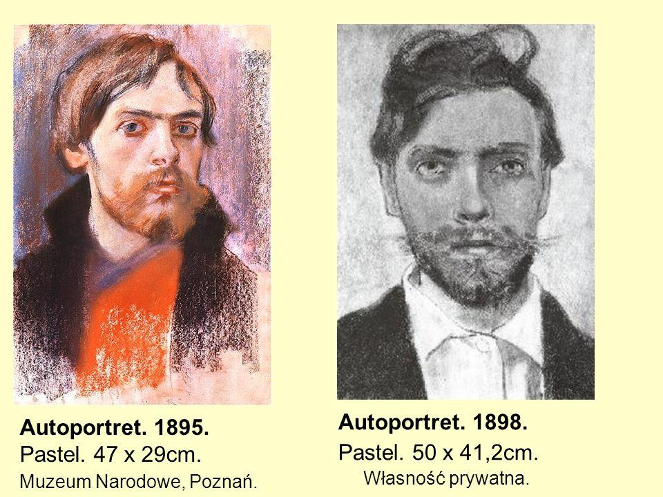 Pastel. 50 x 41,2cm. Własność prywatna. Autoportret. 1895.