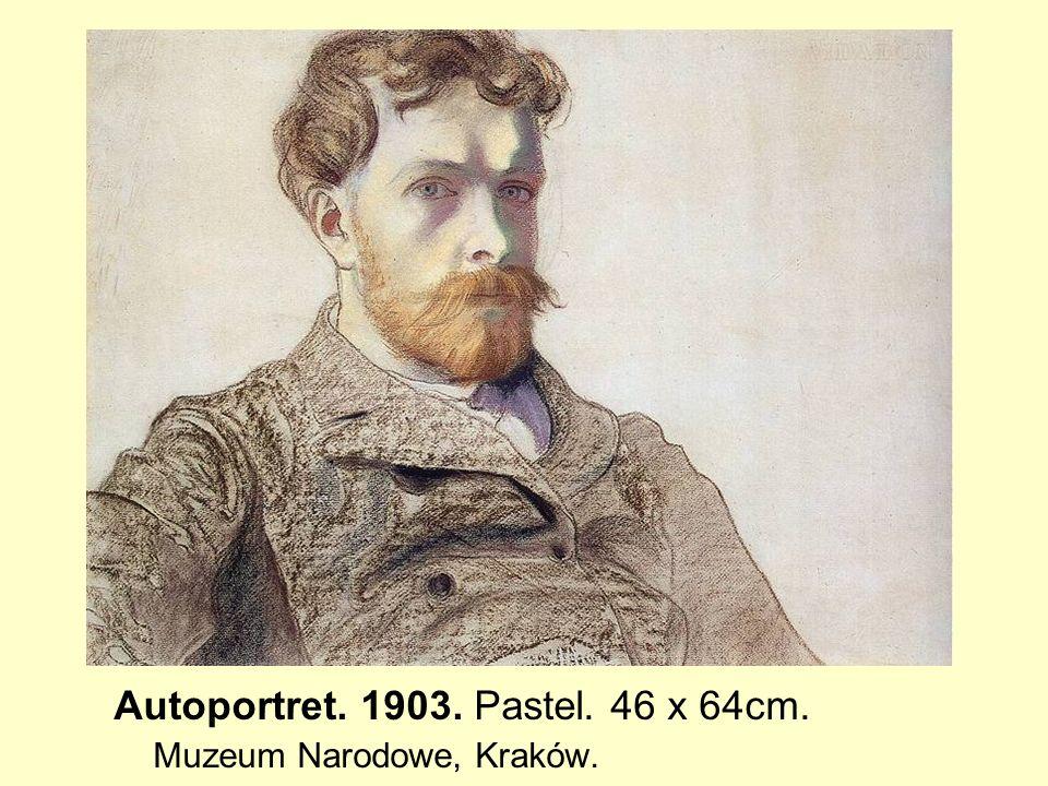 Autoportret. 1903. Pastel. 46 x 64cm. Muzeum Narodowe, Kraków.