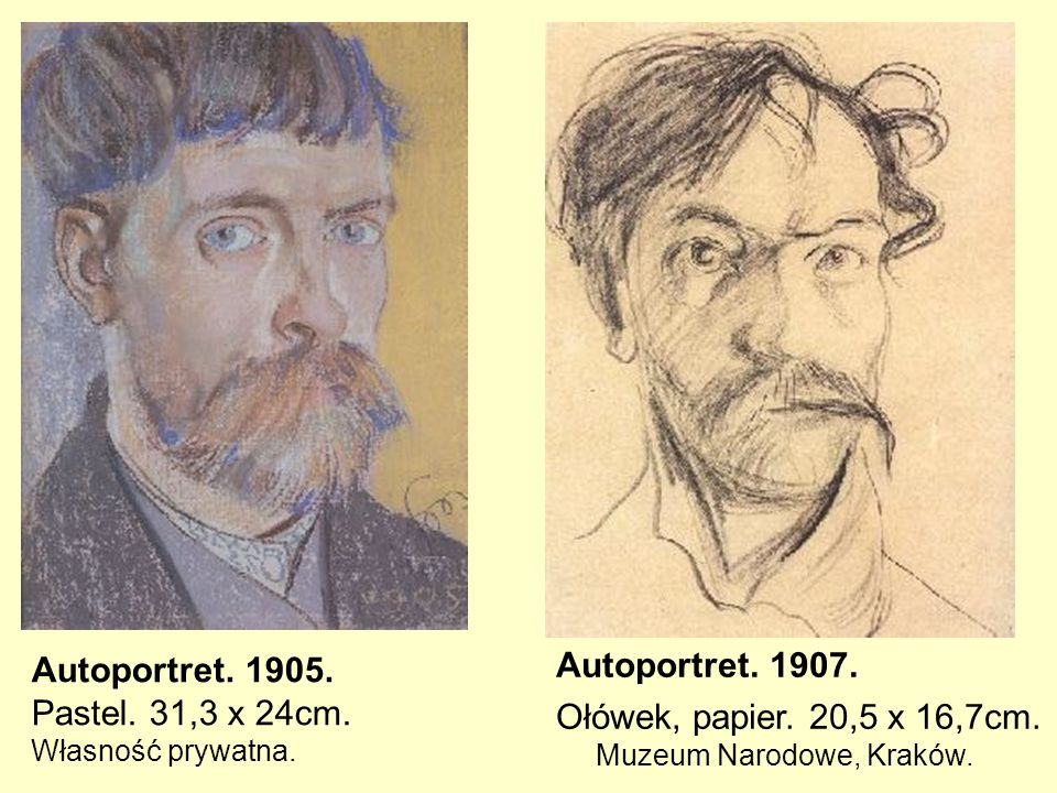 Autoportret. 1905. Pastel. 31,3 x 24cm. Własność prywatna.