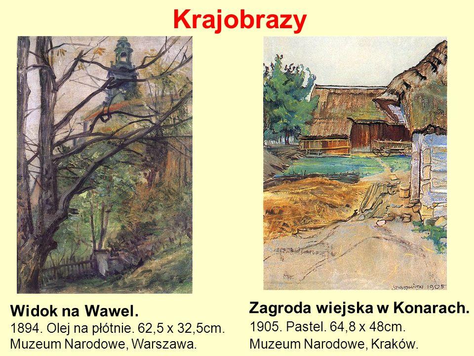 Krajobrazy Zagroda wiejska w Konarach. 1905. Pastel. 64,8 x 48cm. Muzeum Narodowe, Kraków.
