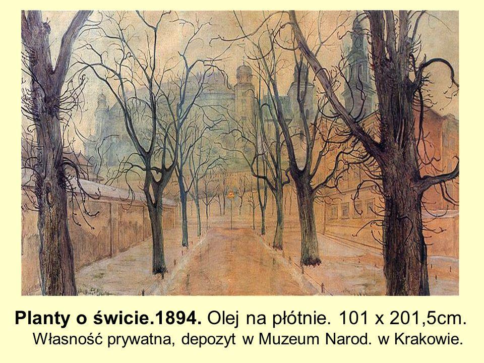 Planty o świcie. 1894. Olej na płótnie. 101 x 201,5cm