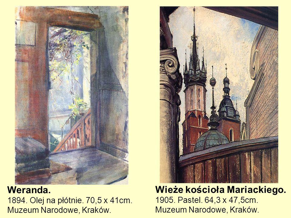 Weranda. 1894. Olej na płótnie. 70,5 x 41cm. Muzeum Narodowe, Kraków.
