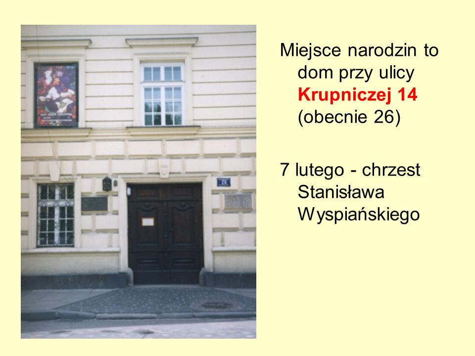 Miejsce narodzin to dom przy ulicy Krupniczej 14 (obecnie 26)