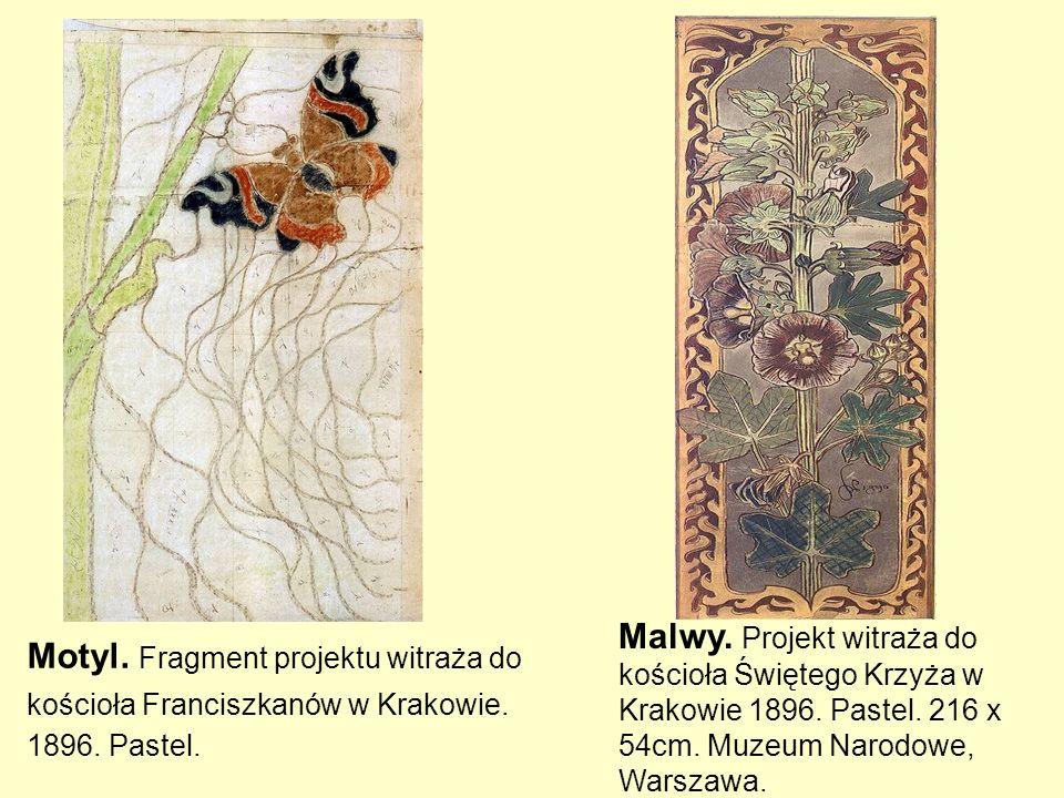 Malwy. Projekt witraża do kościoła Świętego Krzyża w Krakowie 1896