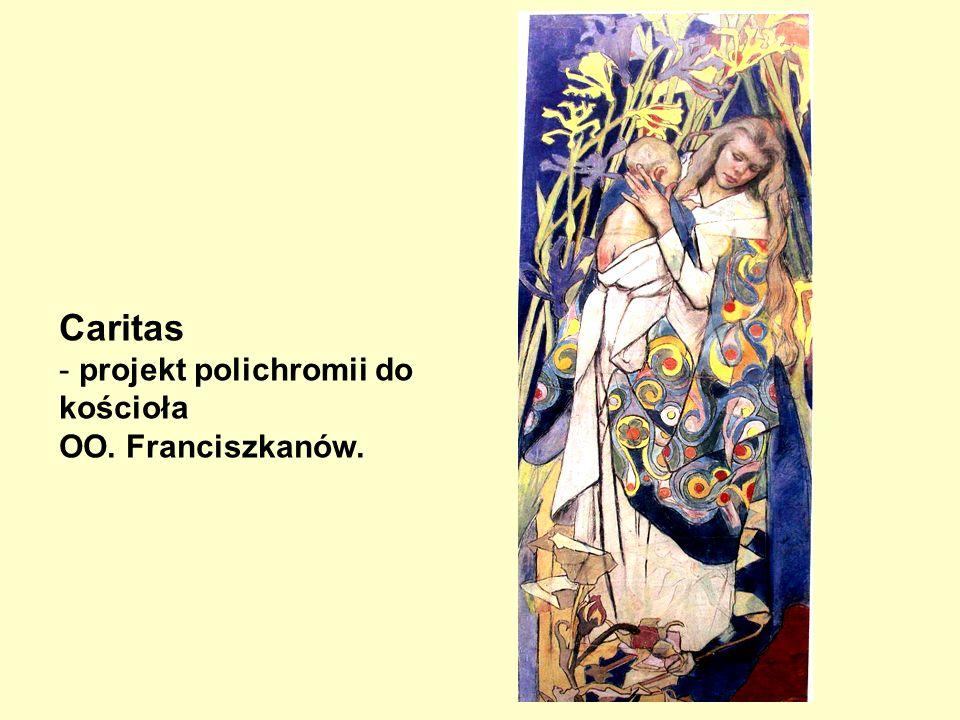 Caritas projekt polichromii do kościoła OO. Franciszkanów.