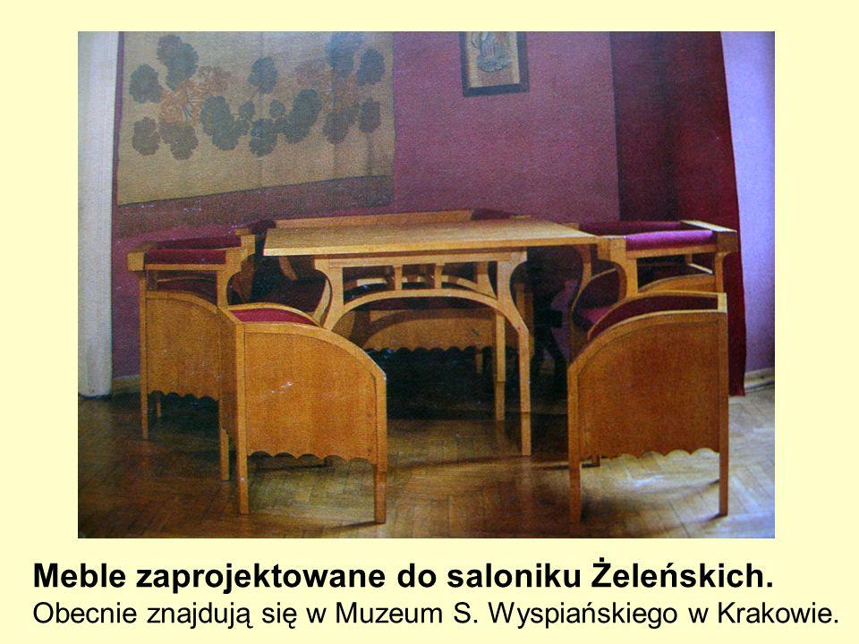 Meble zaprojektowane do saloniku Żeleńskich.