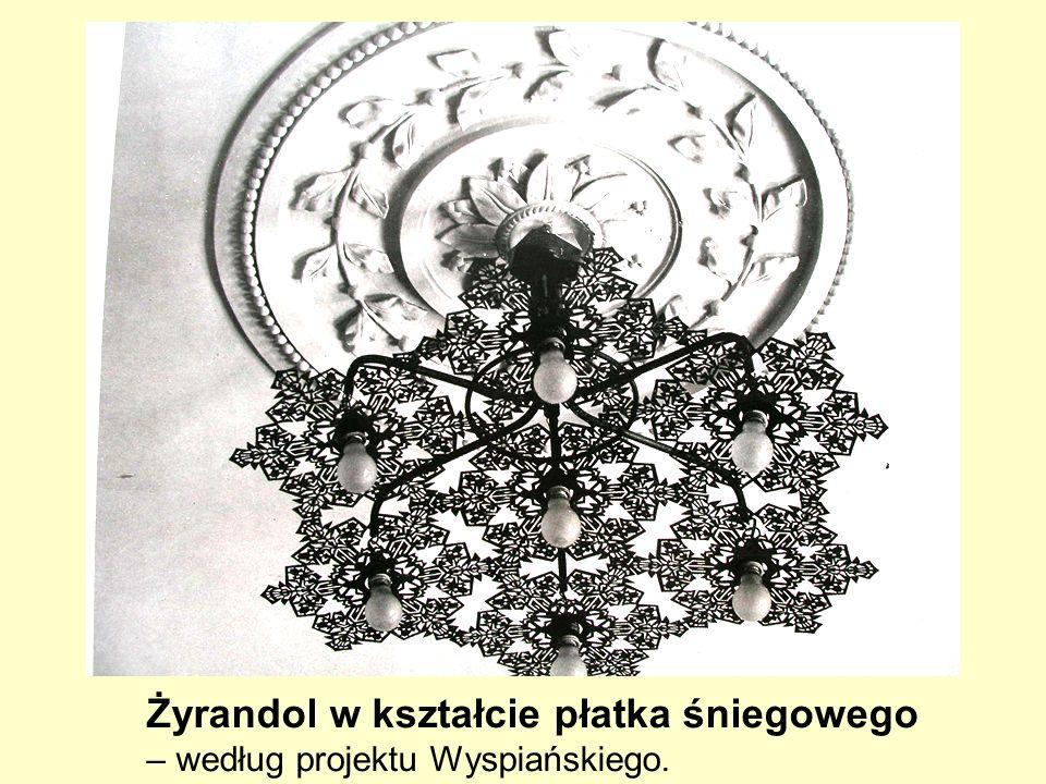 Żyrandol w kształcie płatka śniegowego