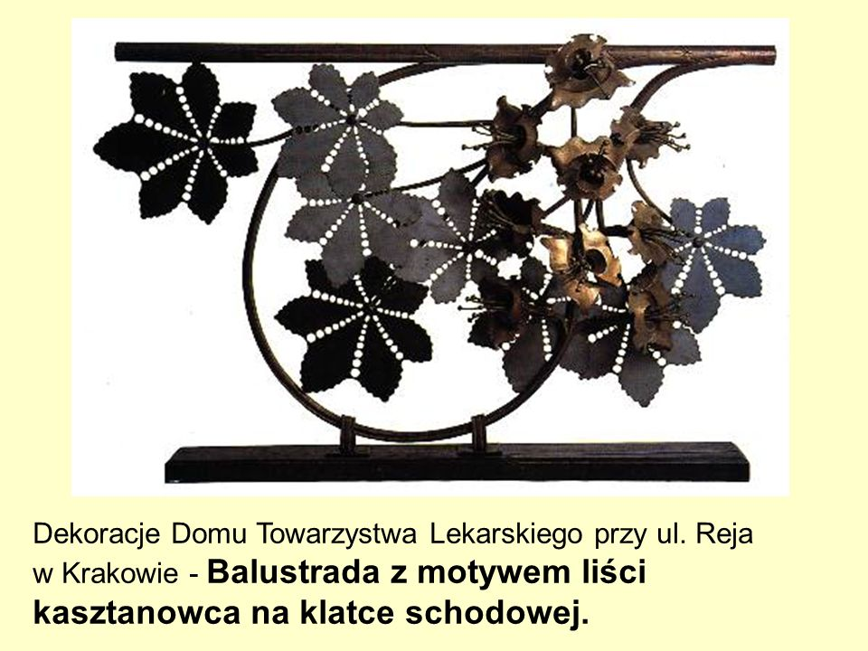 Dekoracje Domu Towarzystwa Lekarskiego przy ul. Reja