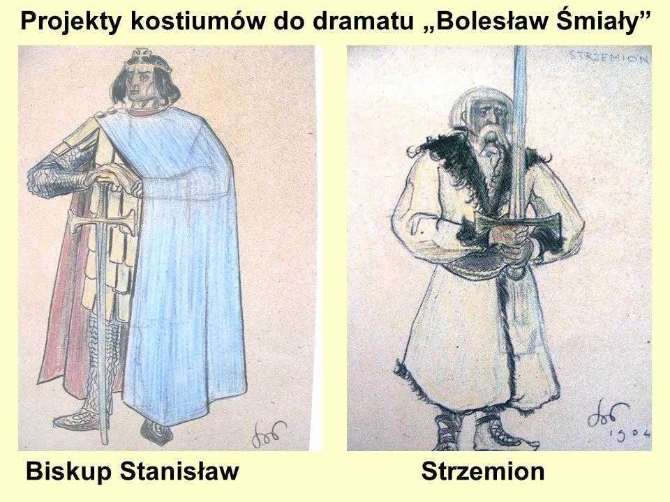 """Projekty kostiumów do dramatu """"Bolesław Śmiały"""