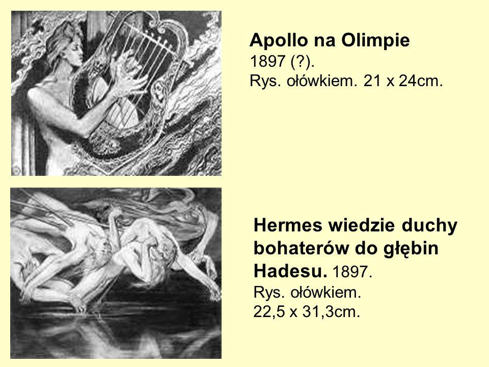 Hermes wiedzie duchy bohaterów do głębin Hadesu. 1897.