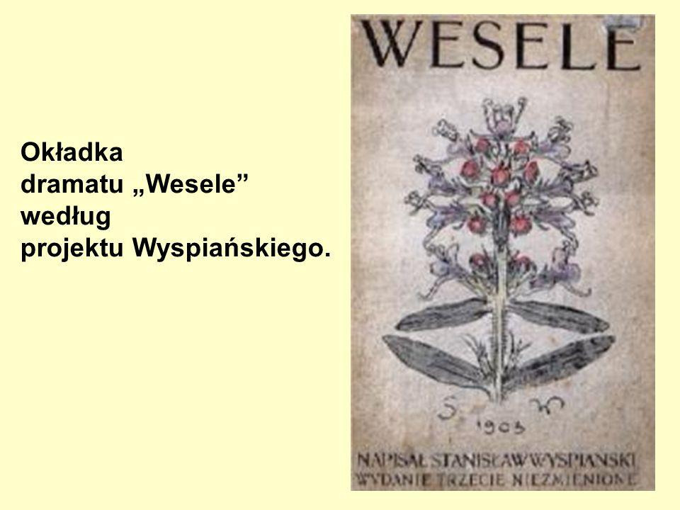 """Okładka dramatu """"Wesele według projektu Wyspiańskiego."""