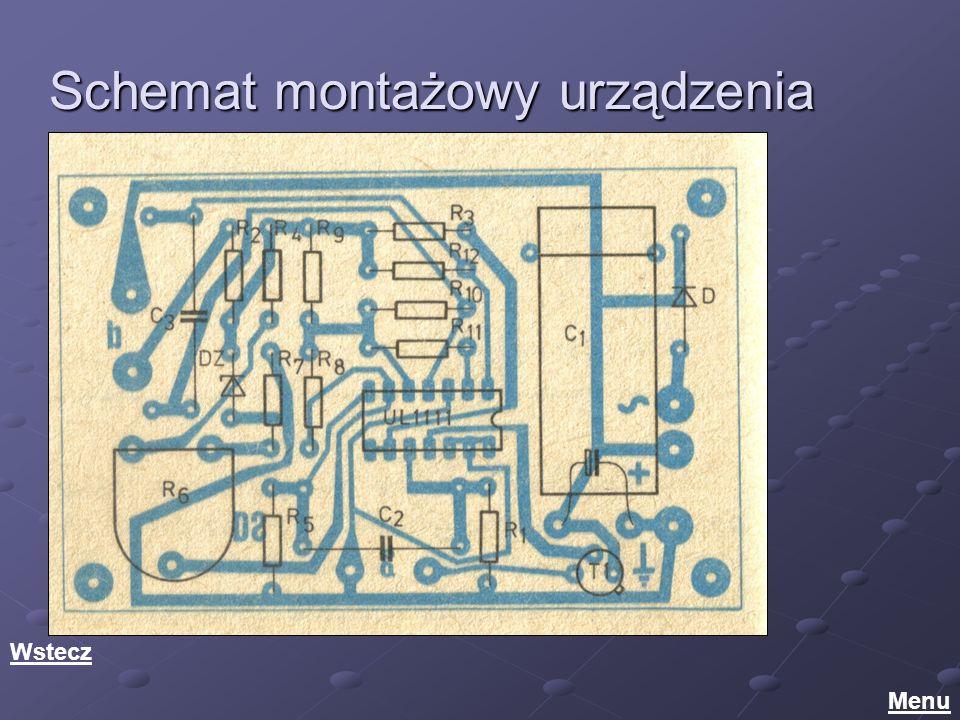 Schemat montażowy urządzenia