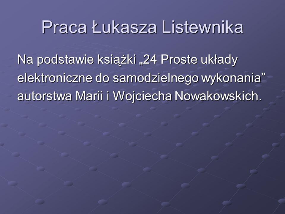 Praca Łukasza Listewnika