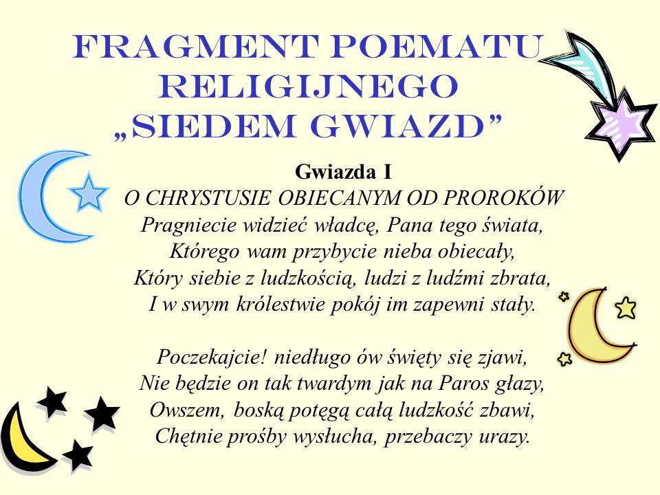 """FRAGMENT POEMATU RELIGIJNEGO """"SIEDEM GWIAZD"""