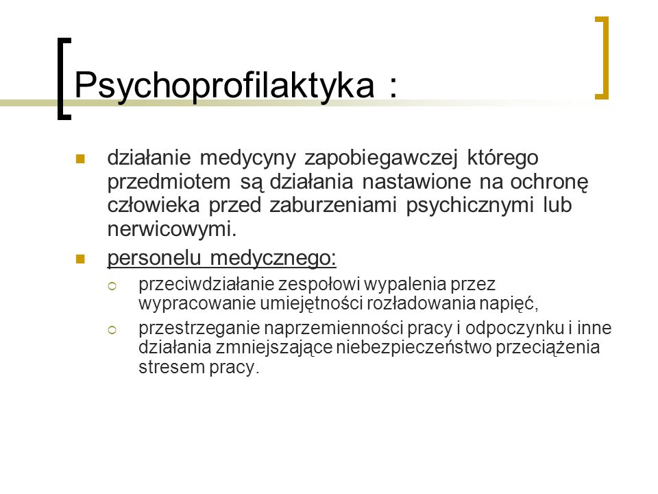 Psychoprofilaktyka :
