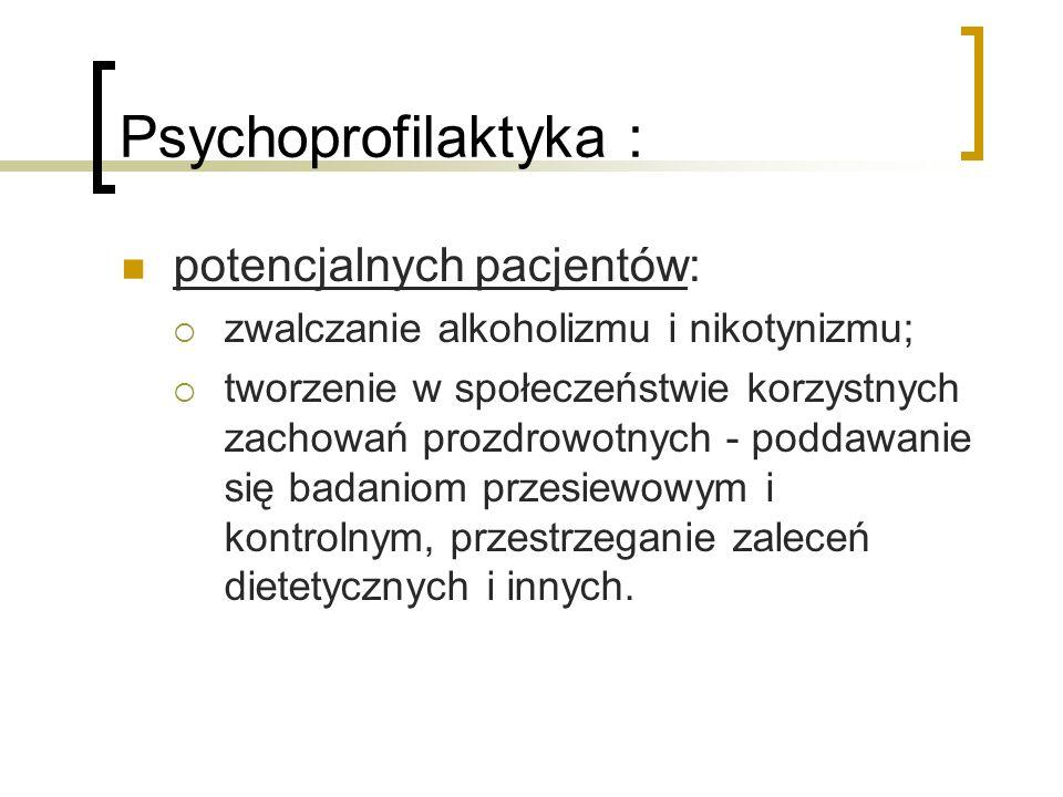 Psychoprofilaktyka : potencjalnych pacjentów: