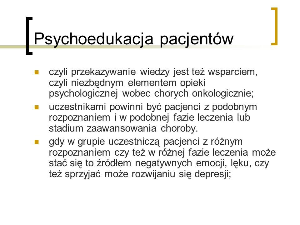 Psychoedukacja pacjentów
