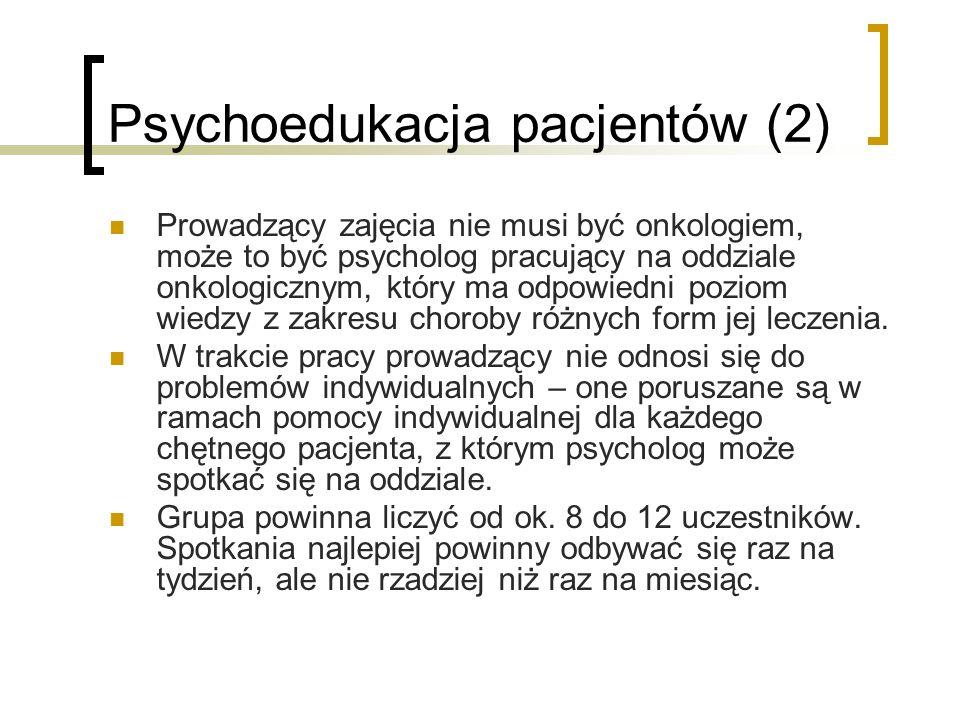 Psychoedukacja pacjentów (2)