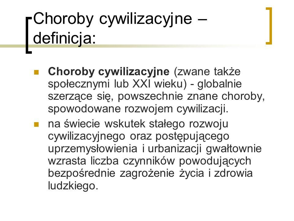 Choroby cywilizacyjne – definicja:
