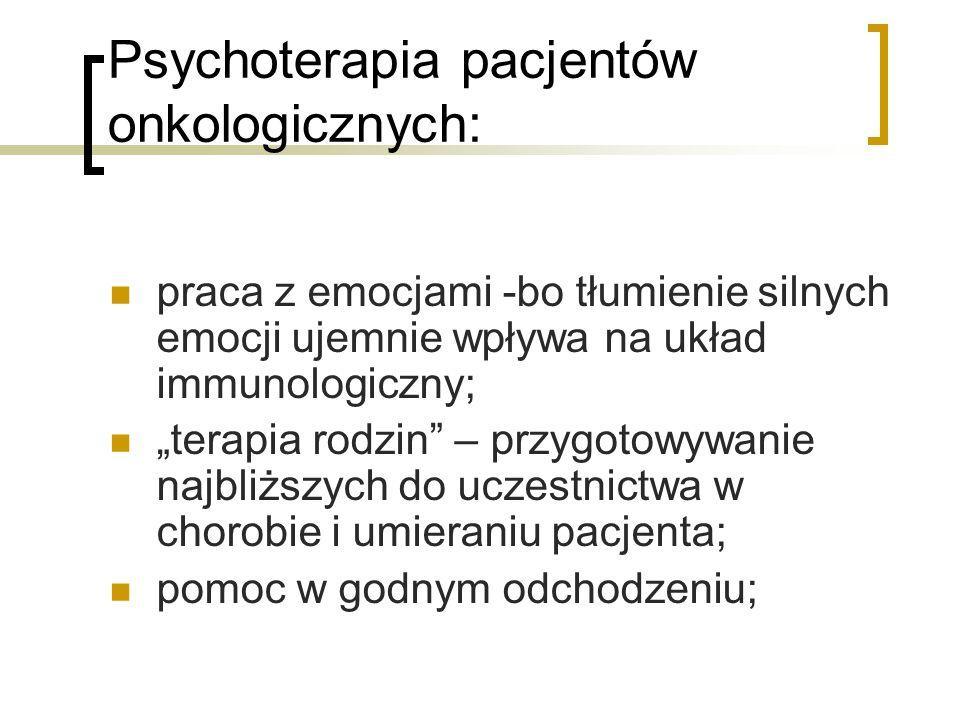 Psychoterapia pacjentów onkologicznych: