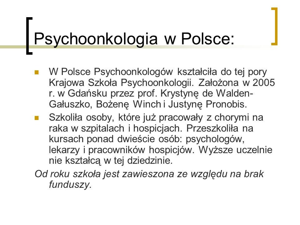 Psychoonkologia w Polsce: