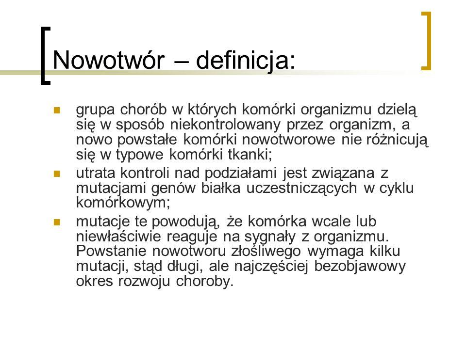 Nowotwór – definicja: