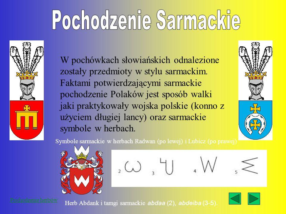 Pochodzenie Sarmackie