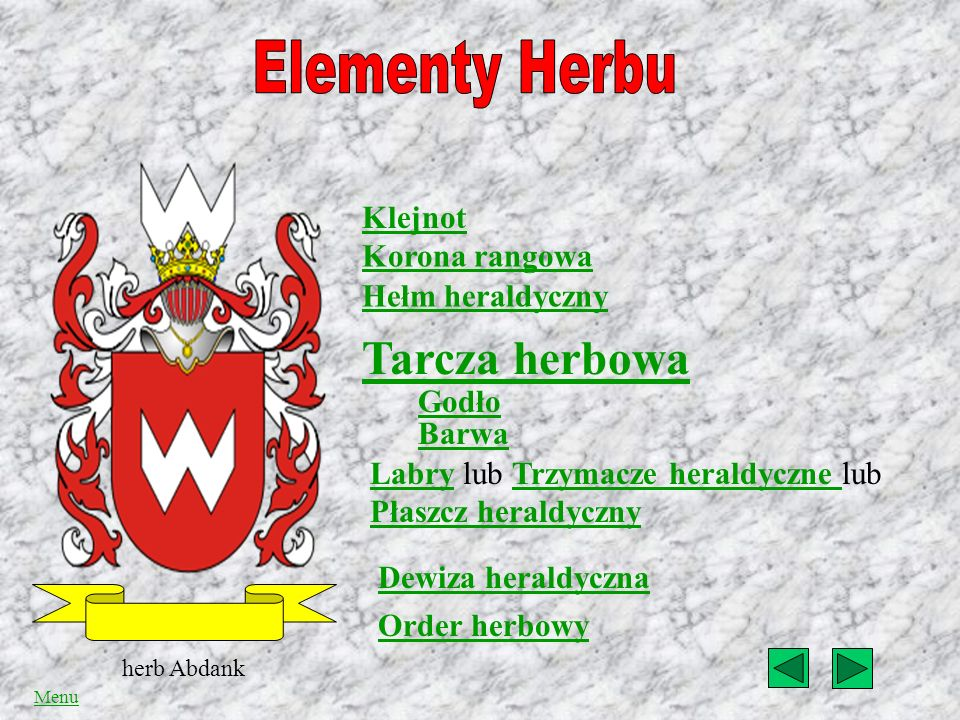 Elementy Herbu Tarcza herbowa Klejnot Korona rangowa Hełm heraldyczny