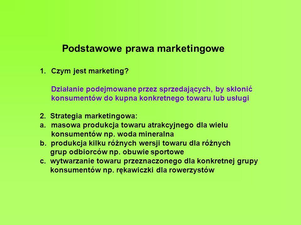 Podstawowe prawa marketingowe