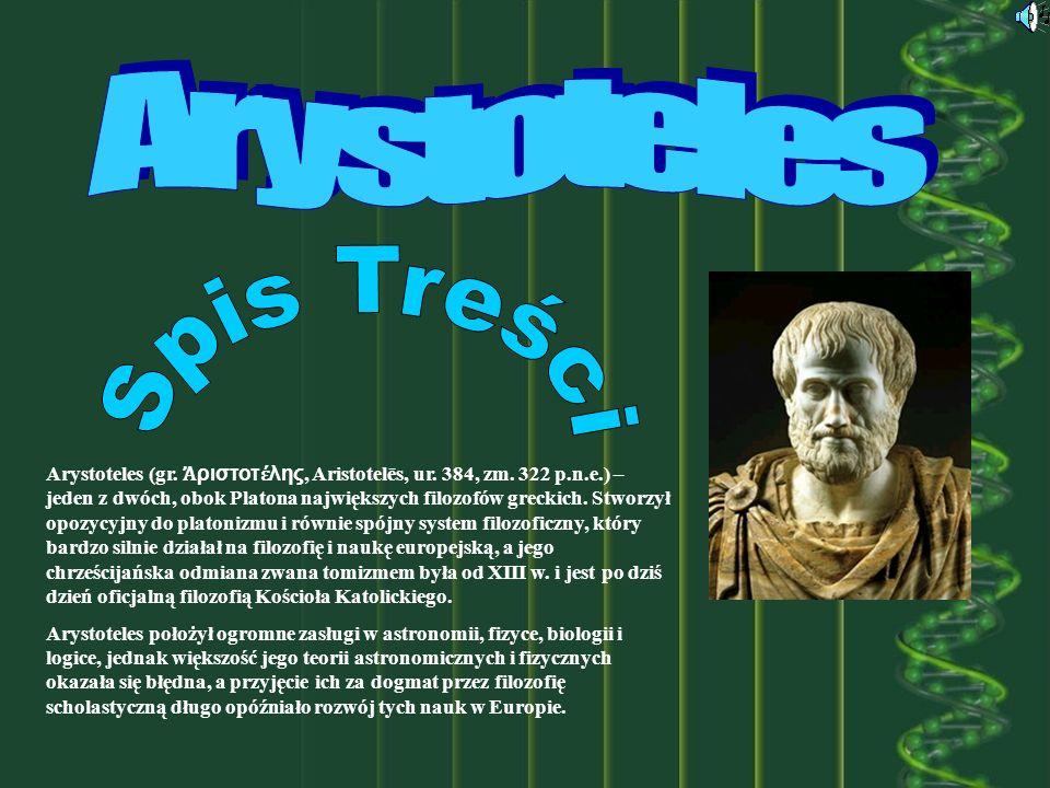 Spis Treści Arystoteles