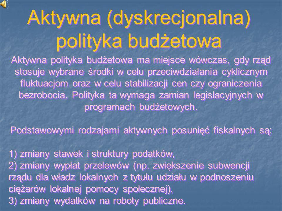 Aktywna (dyskrecjonalna) polityka budżetowa
