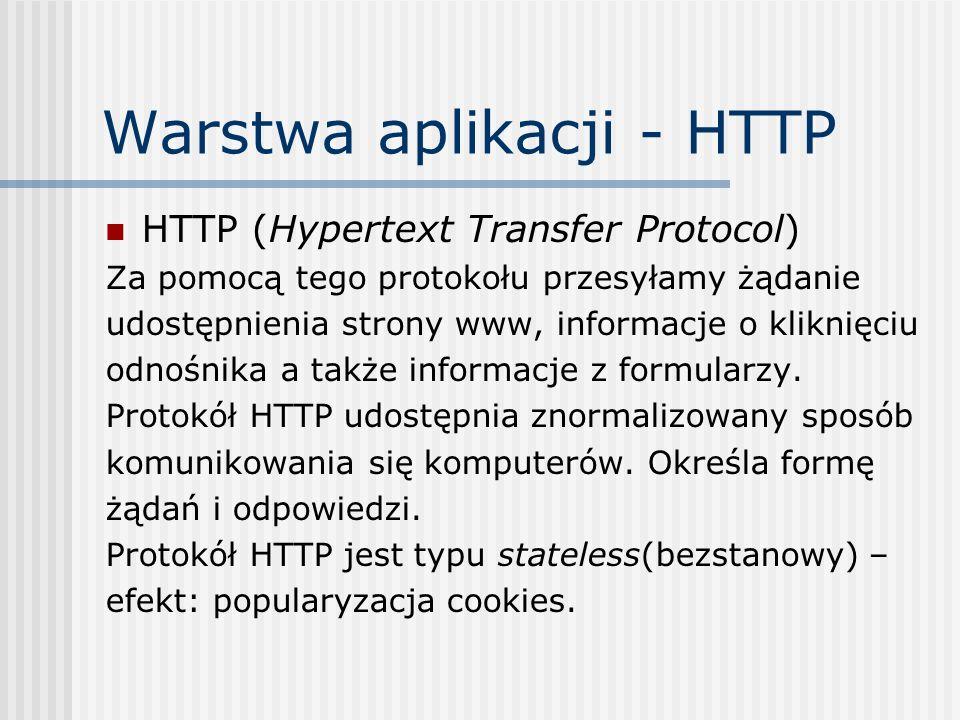 Warstwa aplikacji - HTTP