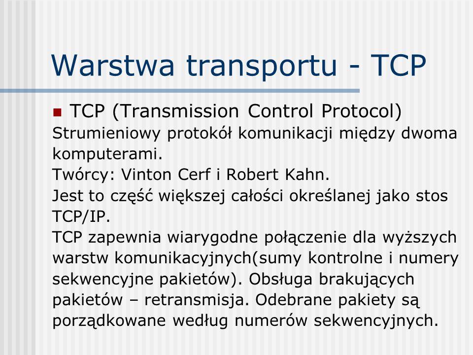 Warstwa transportu - TCP