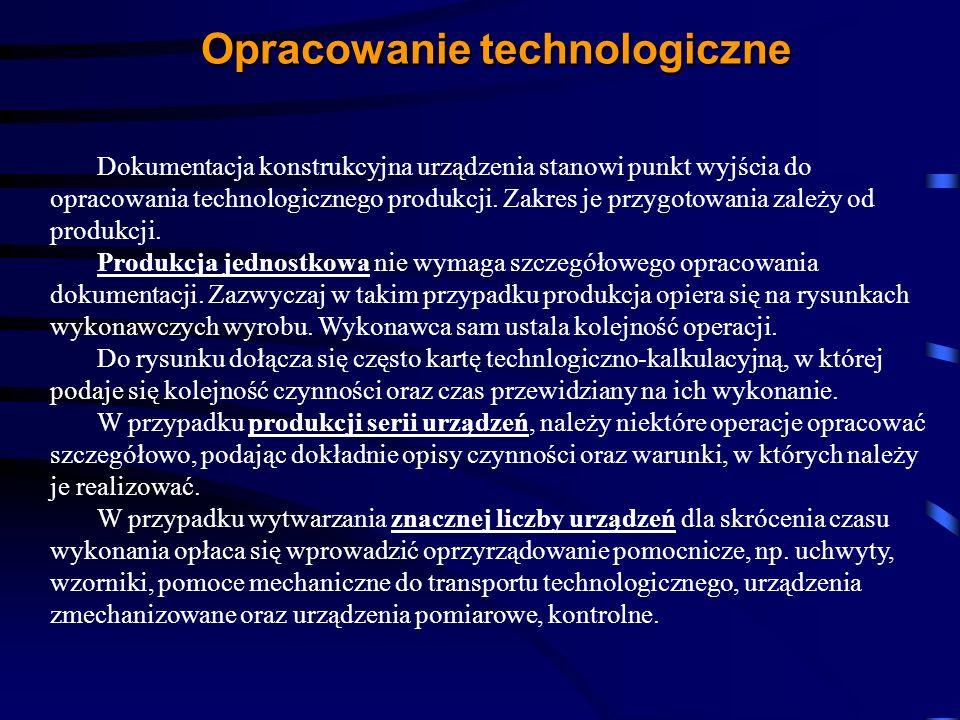 Opracowanie technologiczne