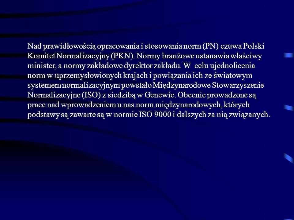 Nad prawidłowością opracowania i stosowania norm (PN) czuwa Polski Komitet Normalizacyjny (PKN).