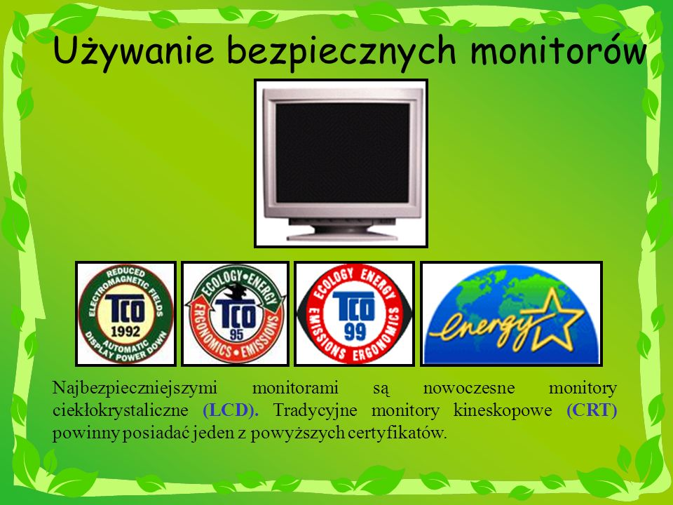 Używanie bezpiecznych monitorów